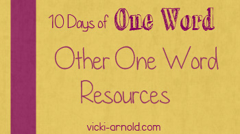 10 Days of One Word resources