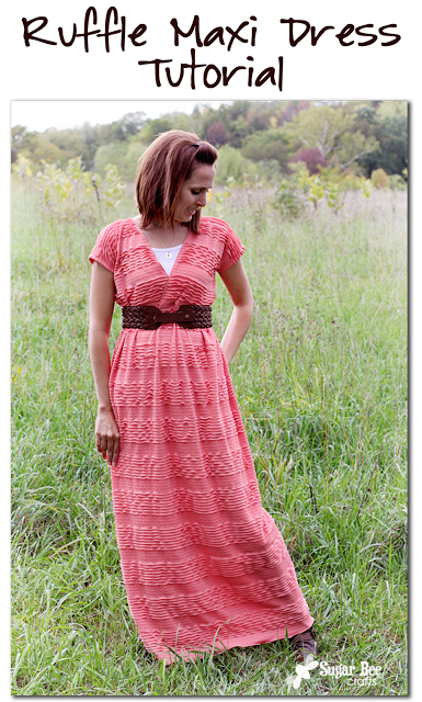 Ruffle Maxi Dress Tutorial