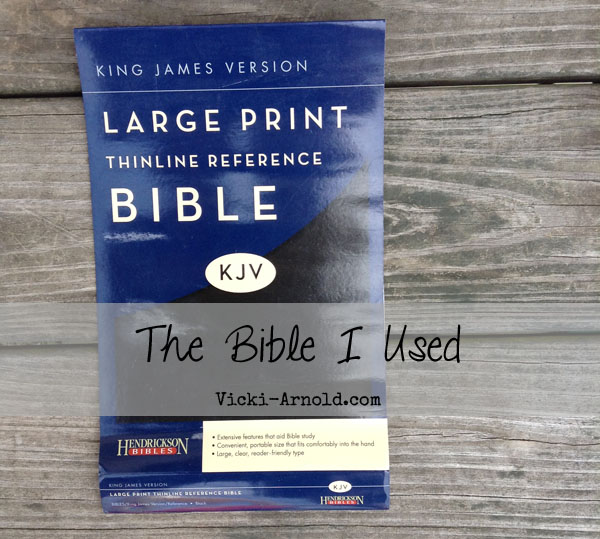 The King James Version Bible I used for our Child Training Bible