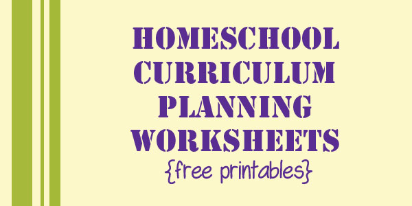 Homeschool Curriculum Planning Pages free printable Simply Vicki – Homeschooling Worksheets