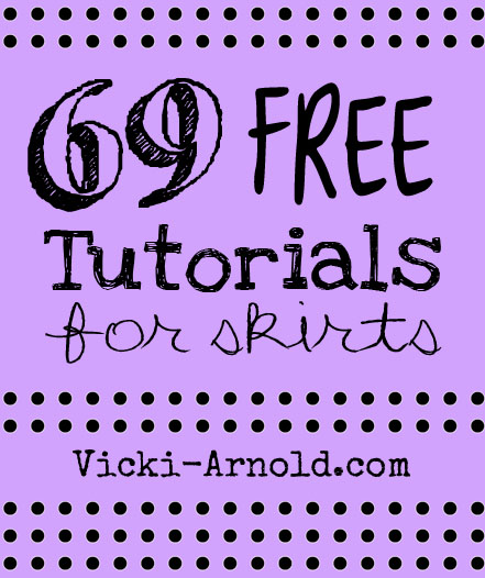 A roundup of 69 free skirt tutorials for some sewing DIY fun!