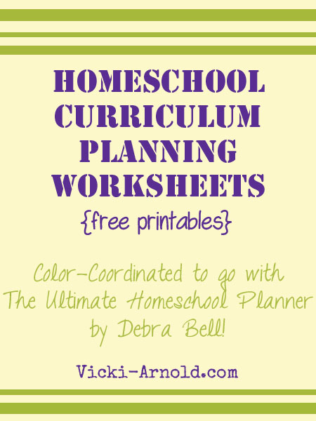 Free printable homeschool curriculum planning pages to coordinate with The Ultimate Homeschool Planner by Debra Bell.