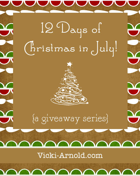 12 Days of Christmas in July giveaway series starts July 14, 2013 at www.vicki-arnold.com #homeschool