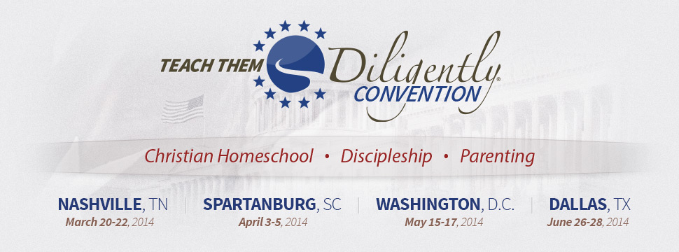 Teach Them Diligently 2014 dates