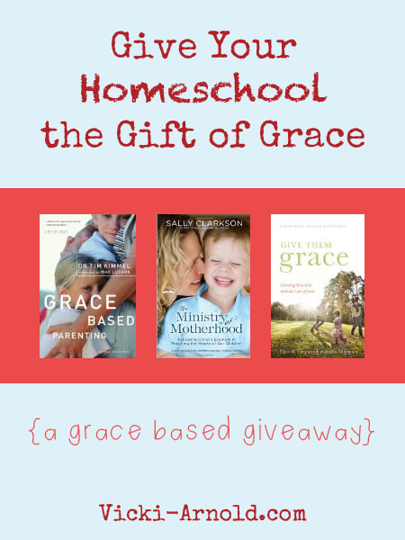 Give your homeschool the gift of grace - win a three book bundle