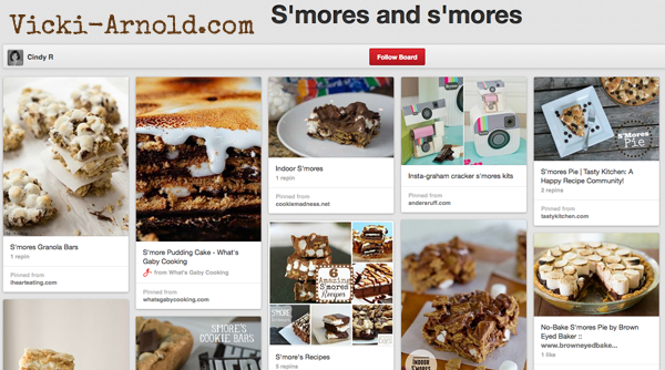 15 S'mores Boards to follow at Vicki-Arnold.com