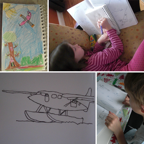 Airplane drawings by my kiddos!