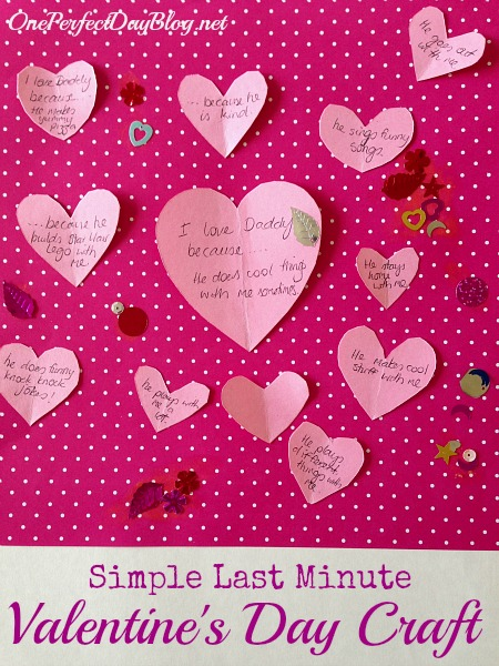 Easy Valentine's Day Craft for Kids from One Perfect Day