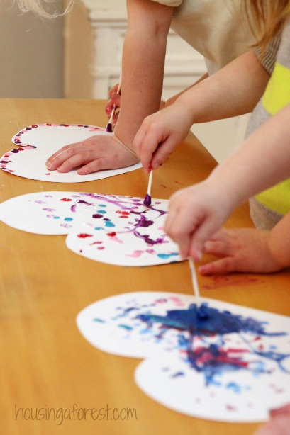 Fine Motor Valentine's Day Painting from Learn Play Imagine