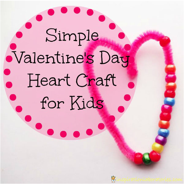 Simple Valentine's Day Heart Craft for Kids from Inspiration Laboratories