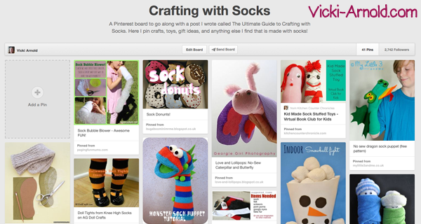 Crafting with Socks (a Pinterest board)