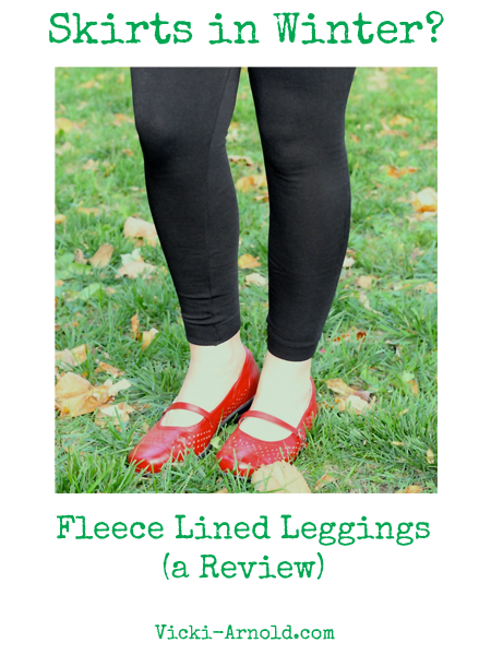 Fleece lined leggings (a review) from Vicki-Arnold.com