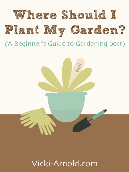 Where Should I Plant My Garden? (A Beginner's Guide to Gardening) from Vicki-Arnold.com
