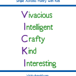 Simple Acrostic Poetry with Kids