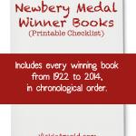 Newbery Medal Winner Books - a Printable Checklist at Vicki-Arnold.com