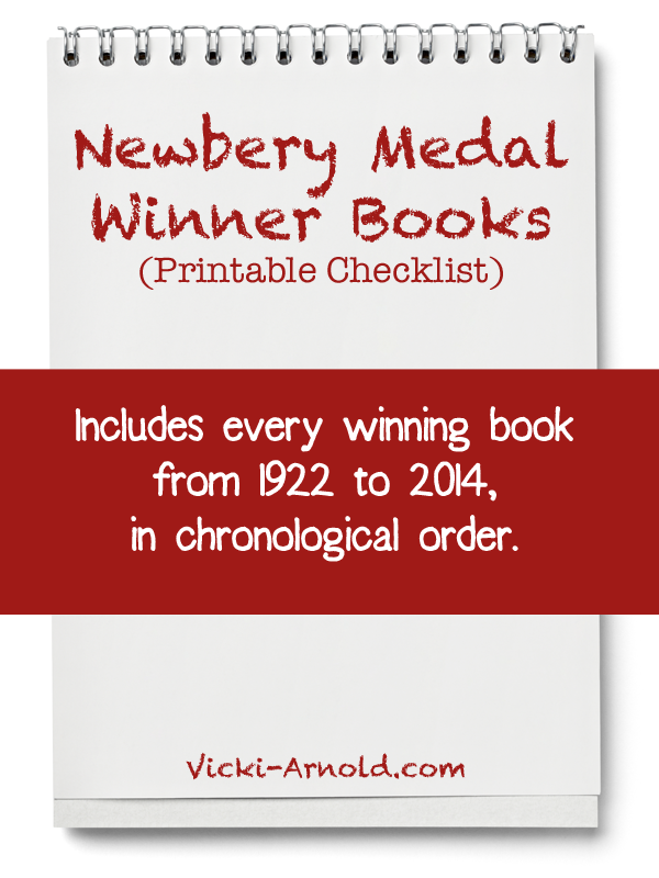 Newbery Medal Winner Books - a Printable Checklist at Vicki-Arnold.com