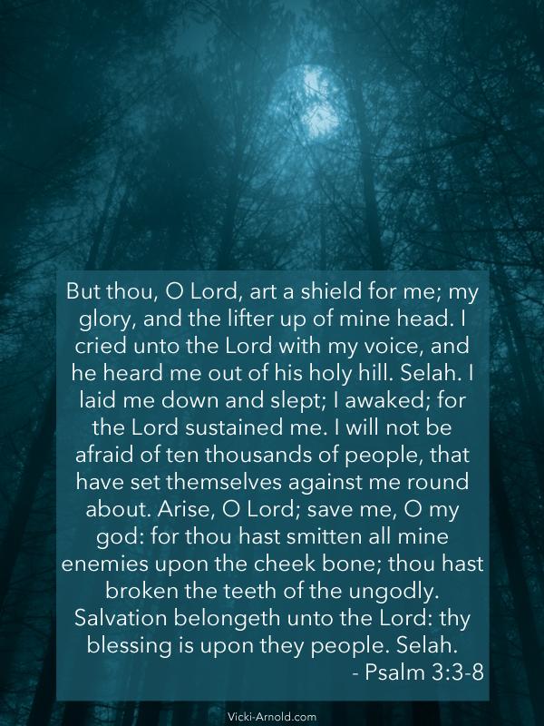 Sunday Psalms - Psalm 3:3-8 | Vicki-Arnold.com