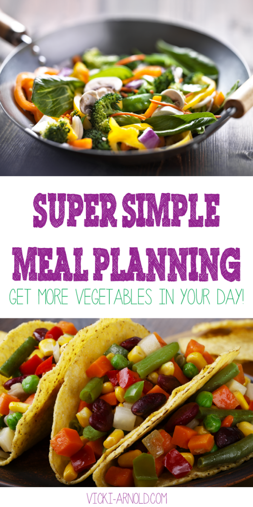 Super simple meal planning method. Get more vegetables in your day.