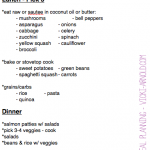 Super simple meal planning method to get more veggies in your day.