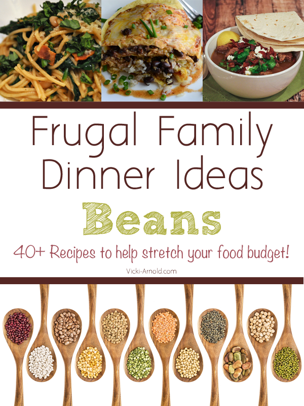 Frugal Family Dinners - Beans - 40+ recipes to help stretch your food budget.