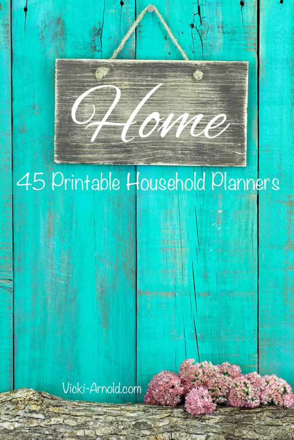 45 Printable Household Planners | Vicki-Arnold.com