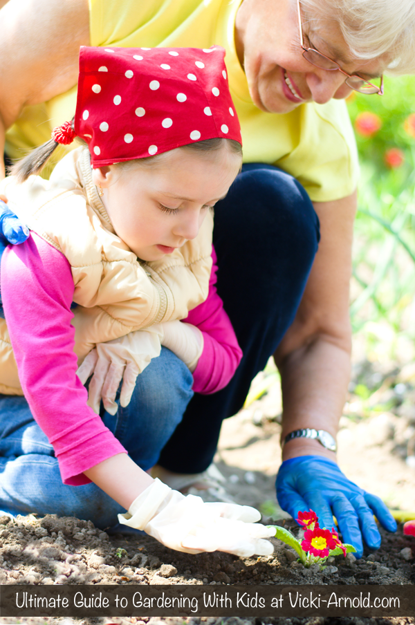Ultimate Guide to Gardening With Kids at Vicki-Arnold.com