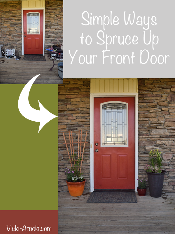 Simple Ways to Spruce Up Your Front Door | Vicki-Arnold.com