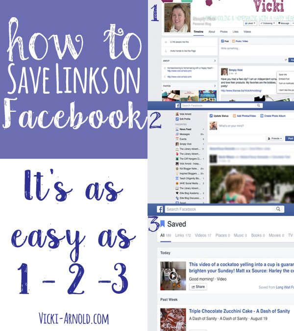 How to Save Links on Facebook - It's as easy as 1-2-3!