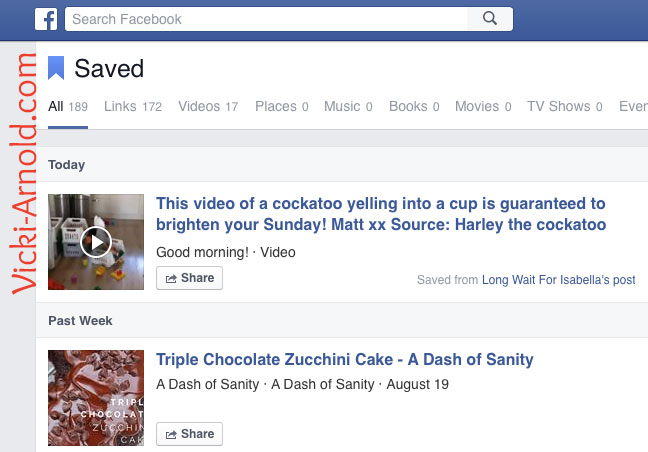 How to Find Your Saved Links on Facebook