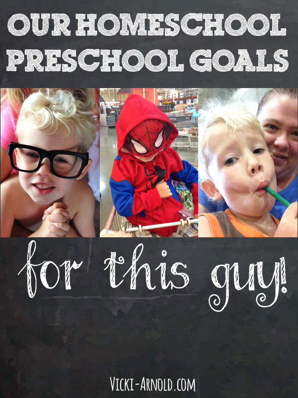 Our homeschool preschool goals for our 3 year old. We keep it simple.