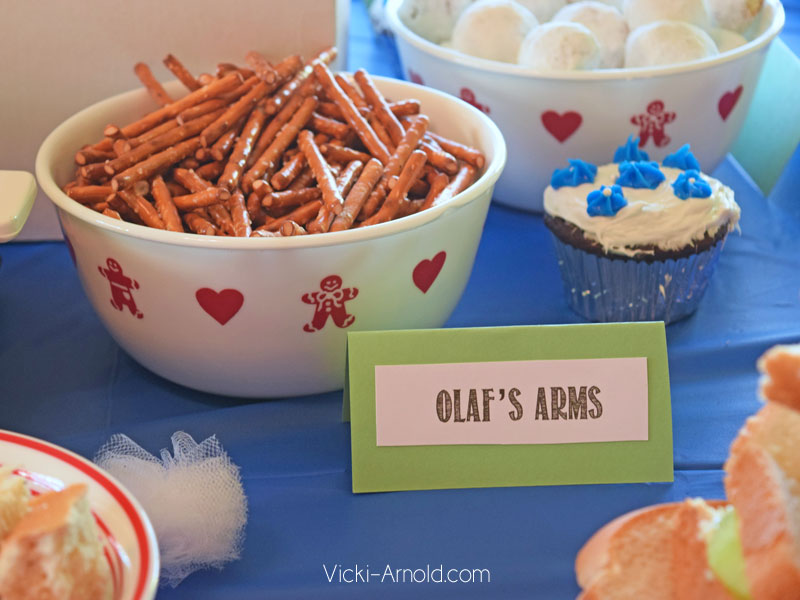 Food Ideas for a Frozen Theme Party - Olaf Arms