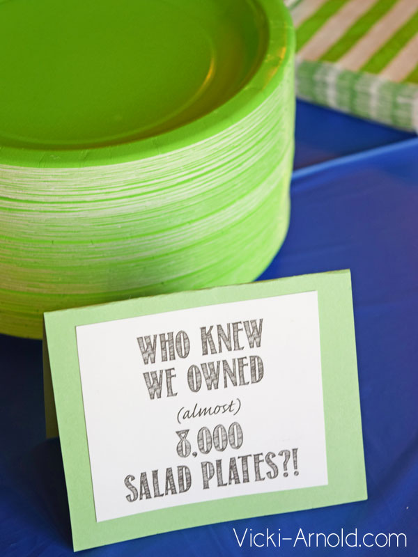 Food Ideas for a Frozen Theme Party - Salad Plates