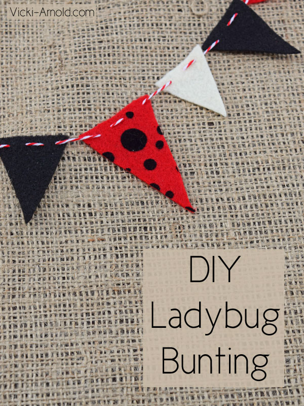 Diy Ladybug Bunting Simple Sewing Craft