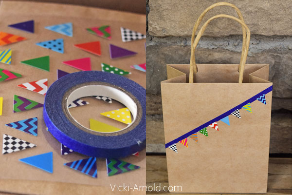 DIY Washi Tape Gift Bags - Another simple, but fun way to use washi tape!
