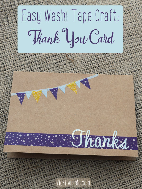 Easy Washi Tape Craft: Thank You Card