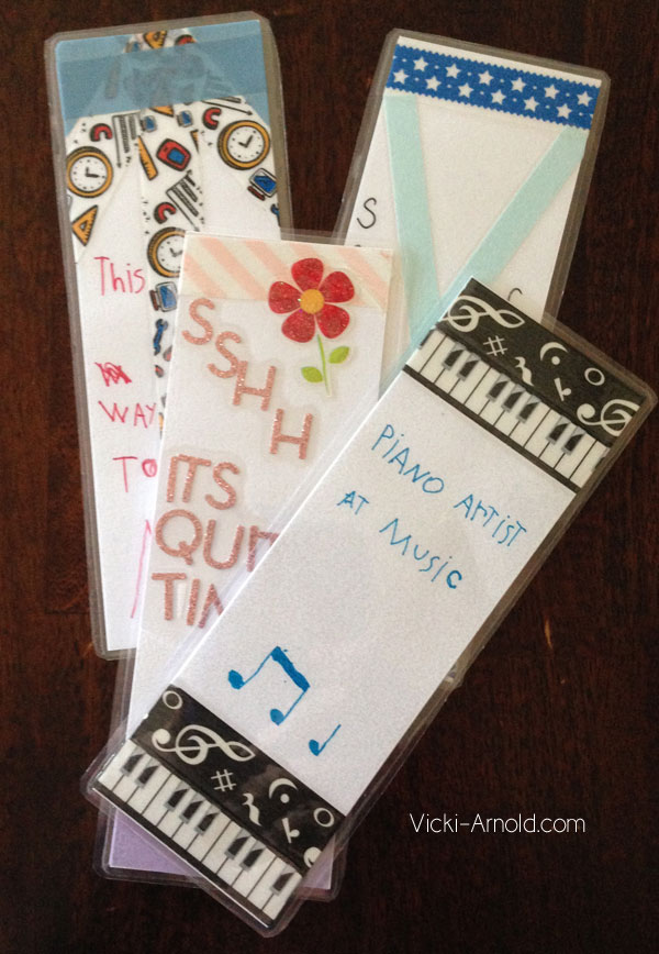 Washi Tape Bookmarks - Easy craft for all ages!