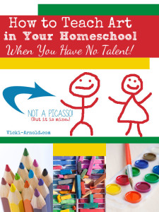 How to Teach Art in Your Homeschool When You Have No Talent!